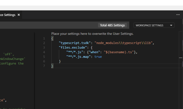 Hiding js and js.map files in VS Code for your typescript projects